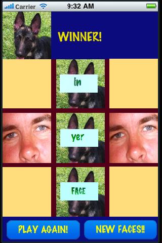 Screenshot Tic Tac Face